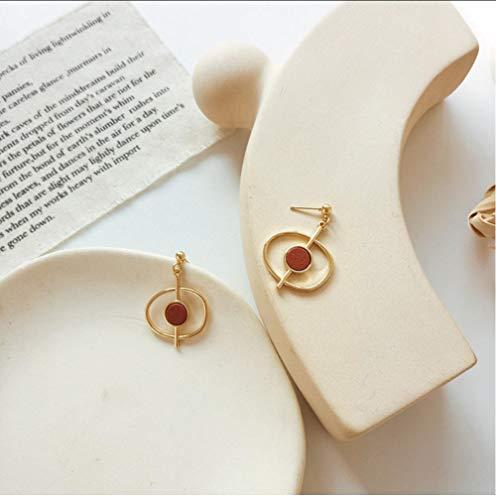 smyzll Stilvoller, unregelmäßig geformter Retro-Ohrhänger aus Marmor für Damenschmuck 2,5x8,5 cm