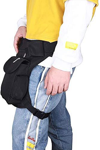 HNYG Bolsa de pierna de nailon multifunción para deportes al aire libre, para hombres y mujeres, para viajes, deportes al aire libre, bolsa de pierna para motocicleta, equitación o ciclismo