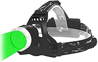 Green LED Headlamp for Hunting, Outdoor Activities, Climbing, Astronomy etc