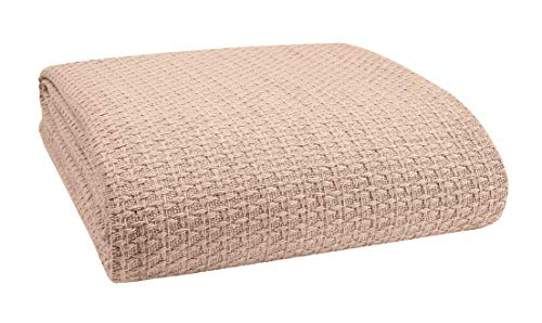 Elvana Home 100% Cotton Bed Blanket, Breathable Bed Blanket Full - Queen Size, Cotton Thermal...
