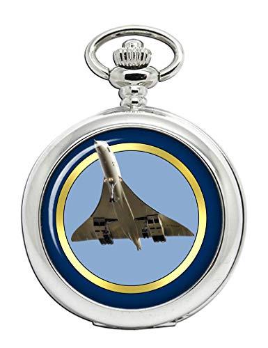 Ae ́ Rospatiale/Bac Concorde Reloj Bolsillo Hunter Completo