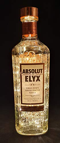 Absolutamente Elyx Vodka – Linterna de botella con 80 LED, blanco cálido, idea de regalo