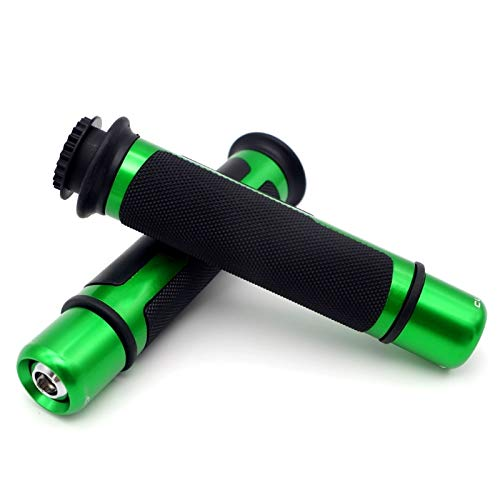 JNBH Mango De Motocicleta CNC De 7/8' 22 / 24mm, Extremo del Manillar para Ya-maha R6 R3 MT 07 R1 Fz6 Fz1 Xj6 MT 09 Fjr 1300 Ybr 125 Antideslizante (Color : Green)