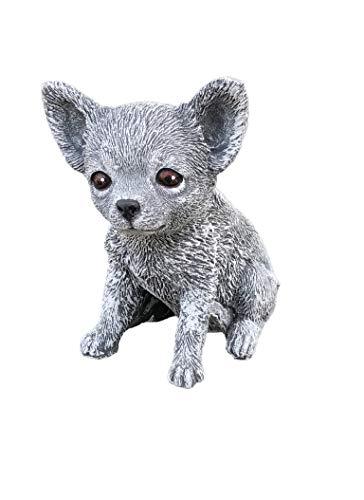 Stone and Style Steinfigur Chihuahua Hund, Frost- und Wetterfest, handgearbeitet