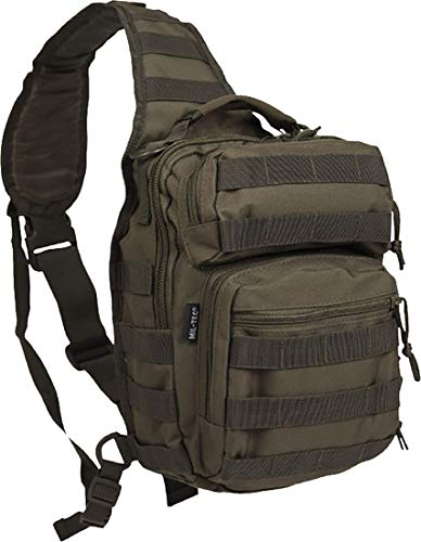 Mil-Tec One Strap Assault Pack Sm Rucksack, Oliv, 30 x 22 x 13 cm