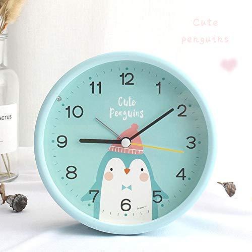 mit lautem Alarm Student tragbare Wecker niedlichen Mädchen Cartoon Nacht leuchtende Wecker-Vier-Zoll-Pinguine wecker wecker analog