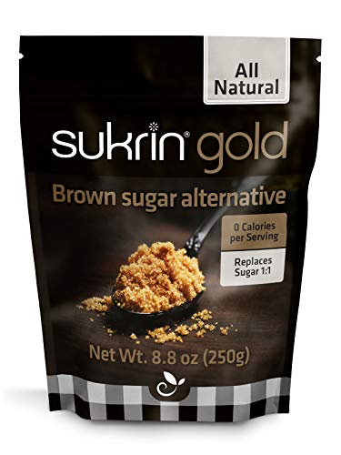 Sukrin Gold - All Natural Brown Sugar Alternative - 250g Bag (1-Pack)