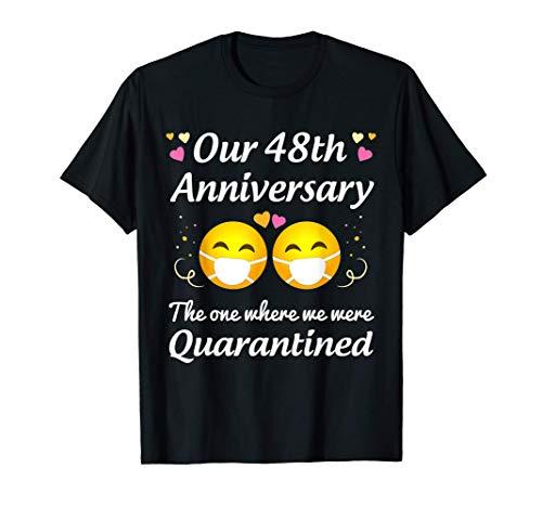 48th Wedding Anniversary Quarantined Gifts Men Women Couple T-Shirt