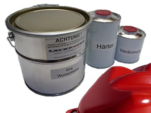Lackpoint 1 Liter Set 2K Autolack Flash Rot Metallic kein Klarlack Trend Tuning