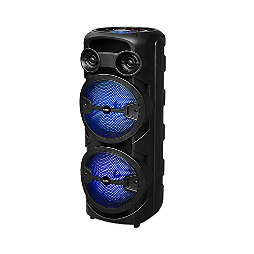 Altavoz Bluetooth BSL-S60 con iluminación RGB | 2 Altavoces de 8 Pulgadas | 2x15W RMS | Batería de 4 Horas de duración | Función Karaoke | Radio FM | USB | TF