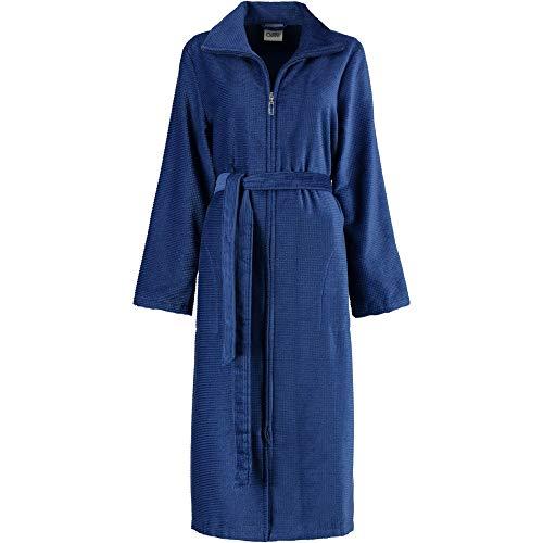 Michaelax-Fashion-Trade Cawö - Damen Bademantel mit 2-Wege-Reißverschluss (4311), Größe:44, Farbe:Blau (115)