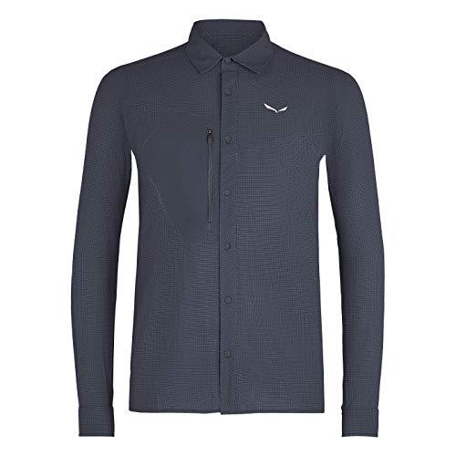 SALEWA Herren Hemden und T-shirts PUEZ MINICHECK2 Dry M L/S SRT, Ombre Blue, 48/M