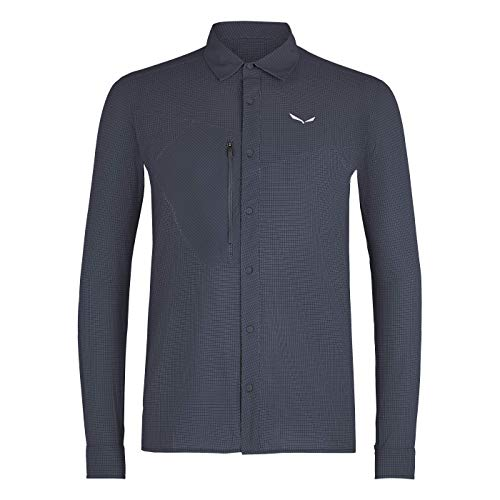 SALEWA Herren Hemden und T-shirts PUEZ MINICHECK2 Dry M L/S SRT, Ombre Blue, 48/M, 00-0000027735