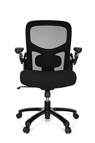 hjh OFFICE 736150 Bürostuhl Instructor SW XXL Stoff Schwarz Schwerlast Stuhl bis 220 kg belastbar