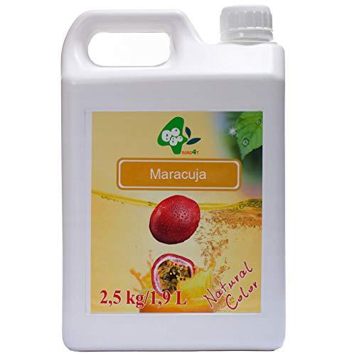 Sirupe Früchte Obst Fruchtsirup für Bubble Tea 100% Vegan Glutenfrei 2,5kg 1900 ml Maracuja