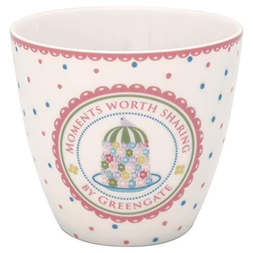 GreenGate - Tasse, Latte Cup - Tenna - White - Porzellan - 300 ml