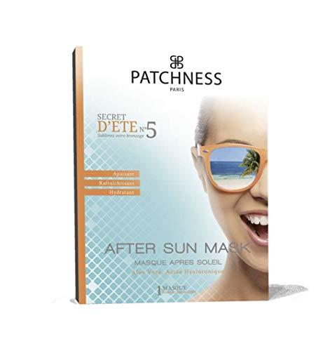 Patchness Masque Bio Cellulose Prêt à Poser Apaisant Après Soleil Perfecteur de Bronzage Alose Vera Acide Hyaluronique Collagène 1 Masque à Usage Unique