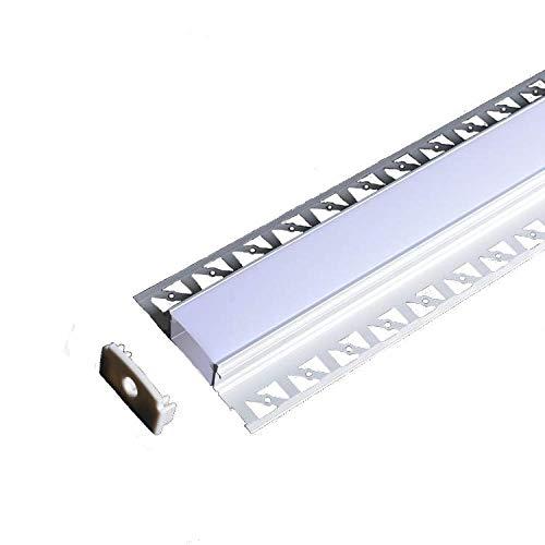 3x 200cm (6m) LED Alu Unterputz Profil Z6214 inkl. Abdeckung Opal matt 2000mm