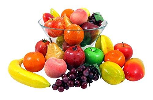 Set of 26 Realistic Artificial Fake Fruit Lifelike Decorative Foam Food Set for Home, Kitchen, Party Decor