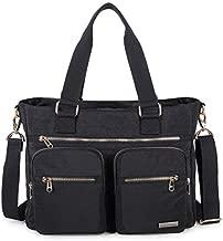 Crest Design Water Repellent Nylon Shoulder Bag Handbag, 14, Noir, Size One Size