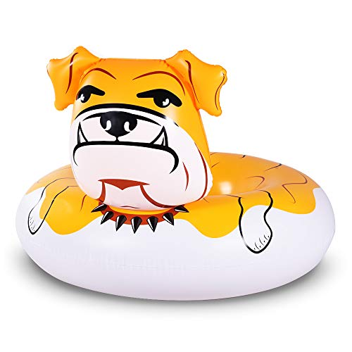 Bulldog Float, 53 inches Giant Inflatable Pool Float Tube for Party, Summer Fun Pool Toys for Adults and Kids
