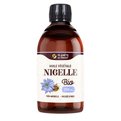 Huile de NIGELLE Bio - 250ml - Cosmos Organic - Planète au Naturel - Pure, Naturelle et Pressée à froid - Cheveux, Corps, Ongles