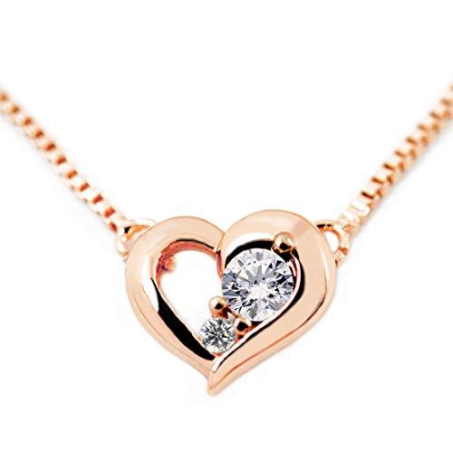 ディズニー ダイヤモンド 24金 ネックレス 誕生石 4月 ミッキー レディース ブランド ピンクゴールド [並行輸入品]