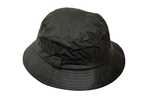 Walker & Hawkes - Uni-Sex Wax Bush Bucket Fishing Country Hat - Olive -...