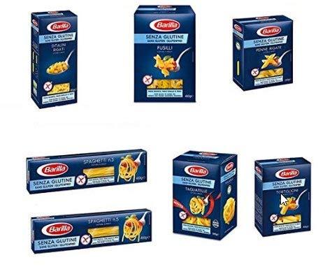 TESTPAKET Barilla senza Glutine Glutenfrei pasta Nudeln 1 x Tagliatelle 300gund je 1 x 400g Ditalini Rigati Ditalini, Fusilli, Penne rigate, Tortiglioni 2 x Spaghetti