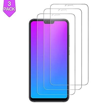 MUOUROU Protector de pantalla para Xiaomi Mi 8 Lite, [3 unidades] [sin burbujas] [HD Clear] [dureza 9H] película protectora para Xiaomi Mi 8 Lite.