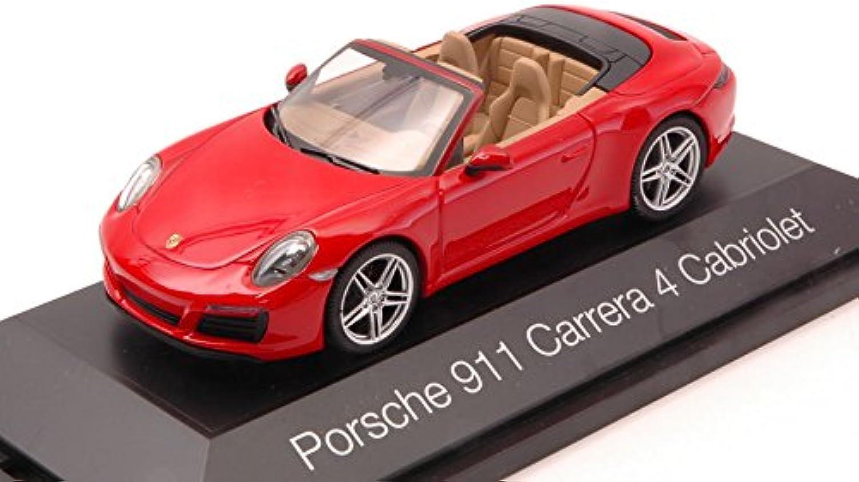 PORSCHE 911 autoRERA 4 CABRIO rosso 1 43 - Herpa - Auto Stradali - Die Cast - modellolino
