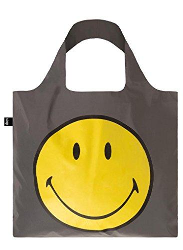LOQI Reflective Smiley Bag - Bolsa de la Compra reutilisable