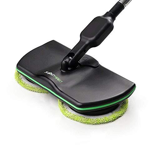 Spin Maid, fregona eléctrica inalámbrica giratoria, limpiador de piso recargable, fregona pulidora, aspiradora de mano para piso y alfombra