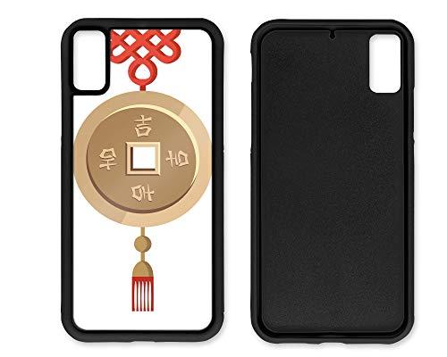 blitzversand Funda para teléfono móvil 2D Yin Yang China compatible con iPhone 6/6s, carcasa de goma para llavero, protección alrededor de la protección de dibujos animados M1