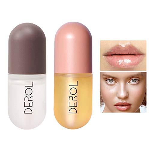 GL-Turelifes 2er Pack Lip Plumper Lipgloss Kit, Ginger Mint Lippenbalsam Plumper Lip Extreme Volume,...