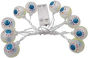 LED Halloween Luce Stringa Con Un Occhio Decorazione Prodotto Ghost Eye Batteria Scatola Luce Stringa Di Natale Luci Decorative Luce Stringa Di Illuminazione 2.2 M