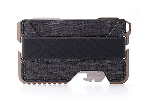 Dango T01 Tactical EDC Portafoglio – Made in USA – Vera pelle, Multitool, RFID Block -  Beige -  Medium