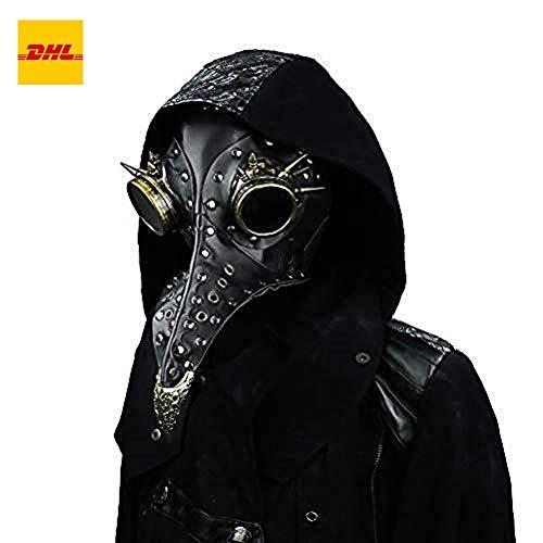 steel master Máscara gótica del Estilo del pájaro de los Hombres y de Las Mujeres Cuero de la PU, Halloween máscara de Steampunk, Cosplay máscara Medieval a Prueba de Viento del Polvo