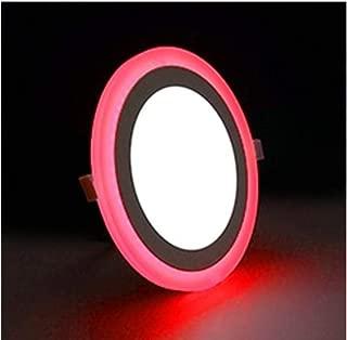 Global 12w Çift Renkli 3 Fonsiyonlu Sıva Üstü Armatür12 Watt 6500k Beyaz Işık + 6watt Kenar Şerit Kırmızı Işık