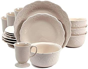 12-Piece The Pioneer Woman Cowgirl Lace Dinnerware Set