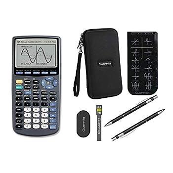 Texas Instruments TI-83 Plus Graphing Calculator + Guerrilla Zipper Case + Essential Graphing Calculator Accessory Kit  Black