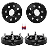 FLYCLE 4 PCS 1 inch Wheel Spacers Hub Centric 4x100mm to 4x100mm with 12x1.5 Studs 56.1mm Bore for Civic CRX Insight Integra Mini Cooper
