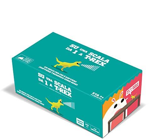 Asmodee - Su una Scala da Uno a T-Rex, Gioco di Carte, dai Creatori di Exploding Kittens, Edizione in Italiano, 8563