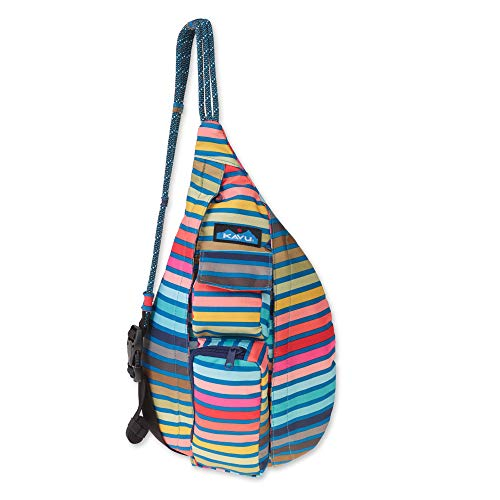 KAVU Mini Rope Sling Bag Polyester Crossbody Backpack - Chroma Stripe