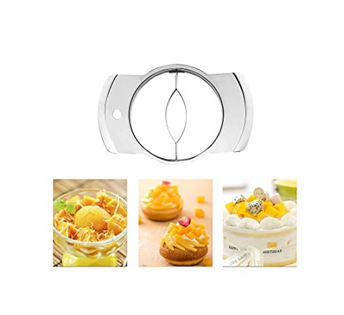Piece Slicer Stainless Fruit Core Seed Remover Chopper Mango Cutter Pitter Kitchen Tool 9.5x2.6cm
