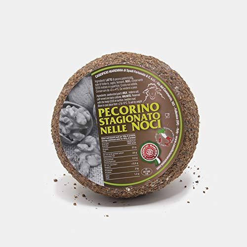 Pecorino Stagionato nelle Noci | forma intera sottovuoto da 1,2 kg | formaggio artigianale toscano | Salumificio Artigianale Gombitelli - Toscana