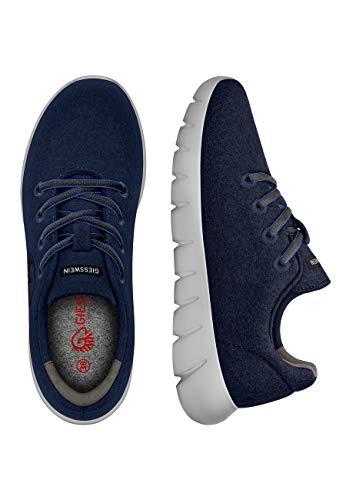 Giesswein GIESSWEIN Merino Runners Men - Atmungsaktive Sneaker aus Merino Wool 3D Stretch, Leichte Herren Freizeit Schuhe mit Wechsel-Fußbett