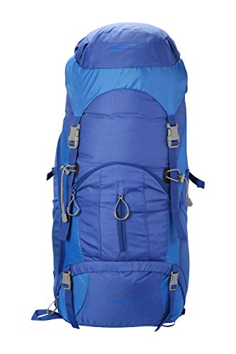 Mountain Warehouse Carrion Mochila de 65 l - Mochila de Viaje Suave, Transpirable,...