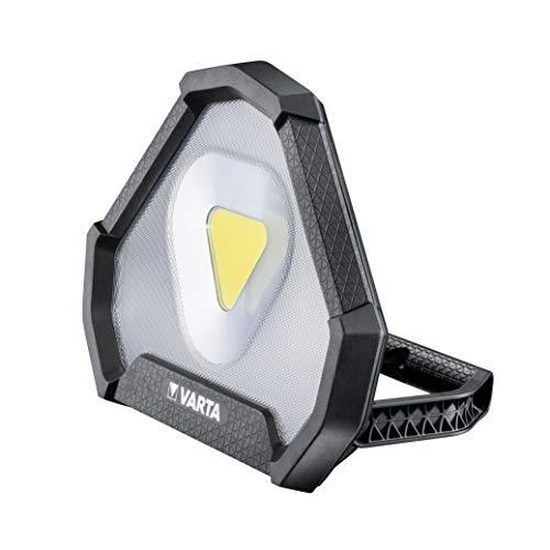 VARTA Work Flex Stadium Light mit wiederaufladbarer Li-Ionen Batterie - Arbeitsleuchte ideal für Raumausleuchtung, Werkstatt, Auto, Arbeitshilfe