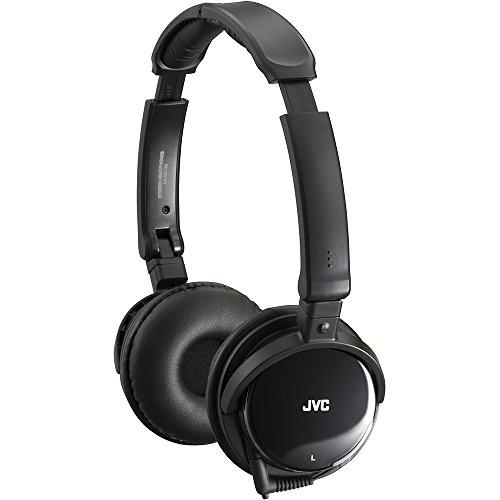 JVC HA-NC120 Ohraufliegend Kopfband Schwarz - Kopfhörer (Ohraufliegend, Kopfband, Verkabelt, 10-21000 Hz, 1,2 m, Schwarz)